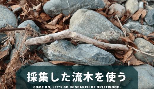 採集した流木を使う
