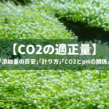 CO2添加量の目安と計り方、CO2とpHの関係などを徹底解説!