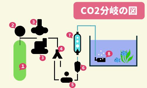 CO2分岐イラスト