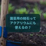 園芸用の軽石はアクアリウムで使えるのか?