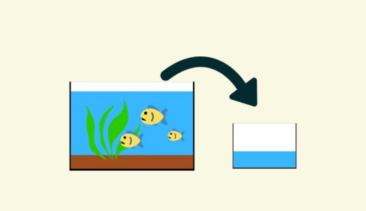 飼育水槽の水を使う